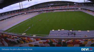 Silkeborg stadion elektromos talajfűtése