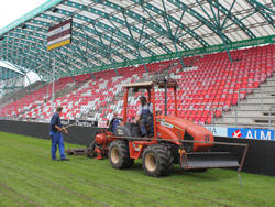Silkeborg stadion talajfűtése