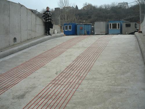 Fűtés beton burkolatban