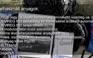 Szerelési videó kültéri fűtőszőnyegről